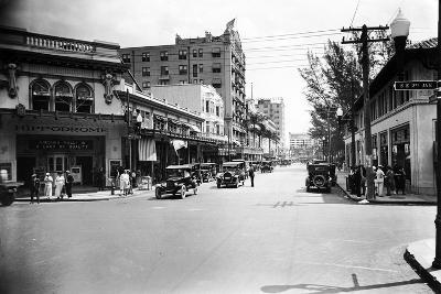 The Hippodrome Theater, on the Left at Ne 2nd Avenue and Flagler Street, 1924--Photographic Print