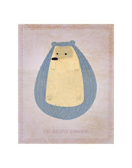 The Hirsute Hedgehog-John Golden-Art Print