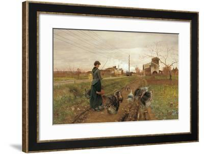 The Hiss of Steam-Angiolo Tommasi-Framed Giclee Print