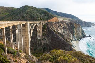 The Historic Bixby Bridge on the Pacific Coast Highway California Big Sur-flippo-Photographic Print