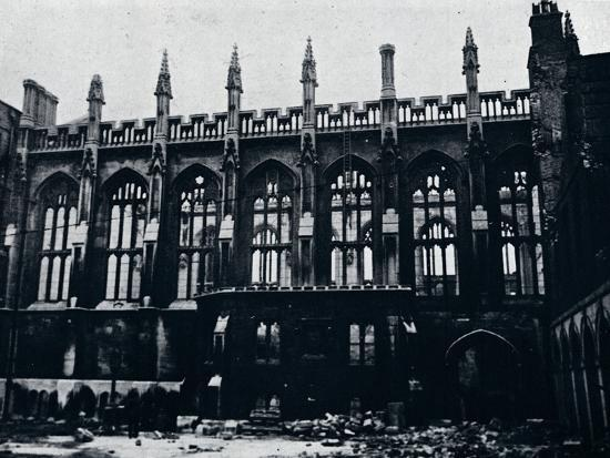 'The Historic Hall in the Inner Temple completely gutted by fire', 1941-Unknown-Photographic Print