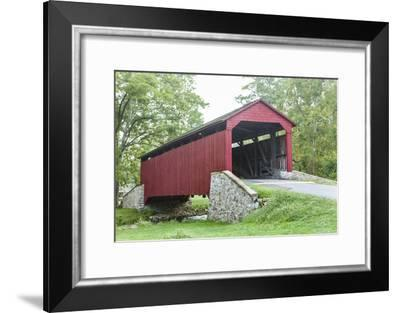 The Historic Poole Forge Covered Bridge in Churchtown, Pennsylvania-Richard Nowitz-Framed Photographic Print
