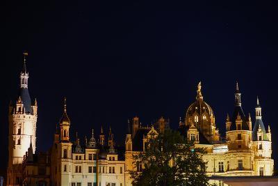 The Historic Schwerin Palace at Night-Babak Tafreshi-Photographic Print