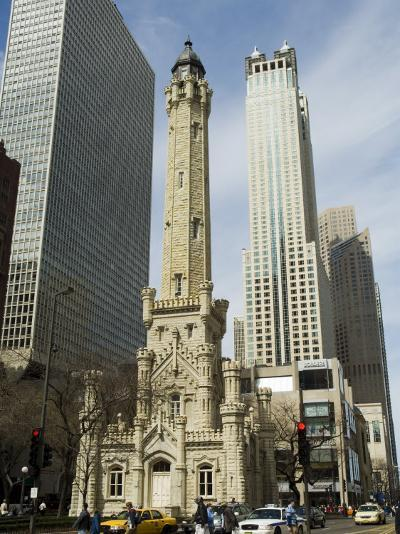The Historic Water Tower, Near the John Hancock Center, Chicago, Illinois, USA-R H Productions-Photographic Print