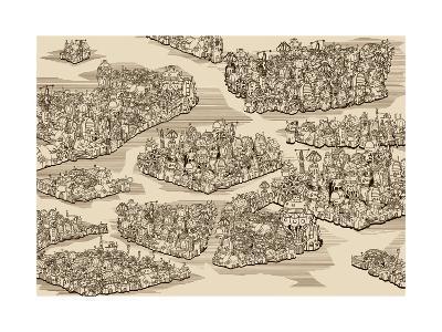 The History We Never Had. Map.-RYGER-Art Print