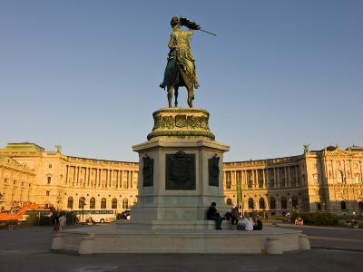 The Hofburg Palace on the Heldenplatz, Vienna, Austria, Europe-Michael Runkel-Photographic Print