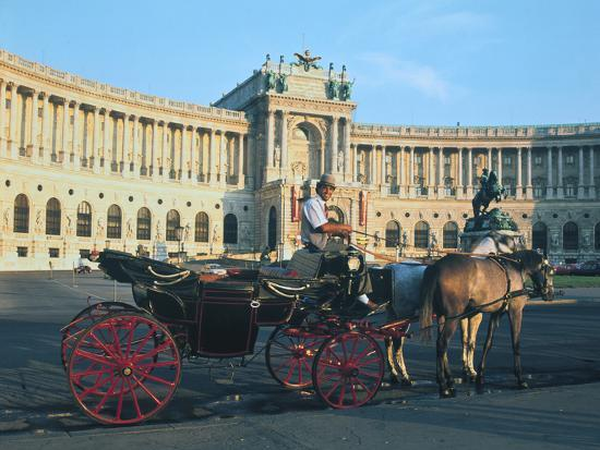 The Hofburg with Carriage, Vienna, Austria-Peter Thompson-Photographic Print