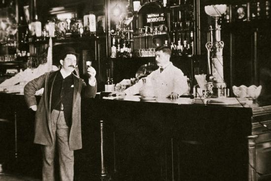 The Hoffman House Bar, New York, USA, 1900s-Unknown-Photographic Print