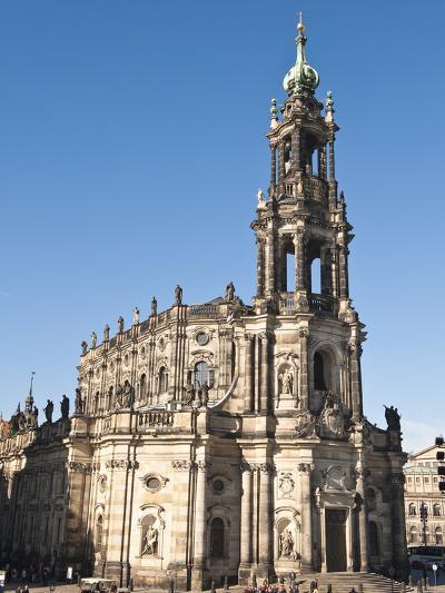 The Hofkirche (Church of the Court), Dresden, Saxony, Germany, Europe-Michael DeFreitas-Photographic Print