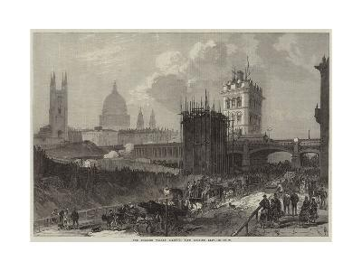 The Holborn Valley Viaduct, View Looking East--Giclee Print