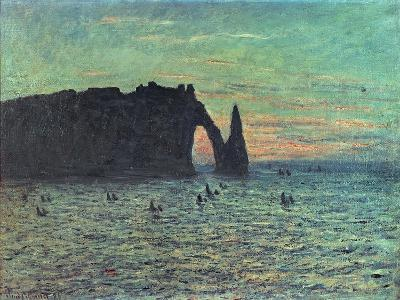 The Hollow Needle at Etretat, 1883-Claude Monet-Giclee Print