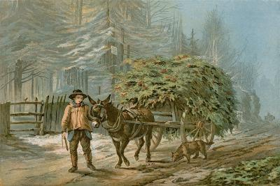 The Holly Cart-Edward Duncan-Giclee Print