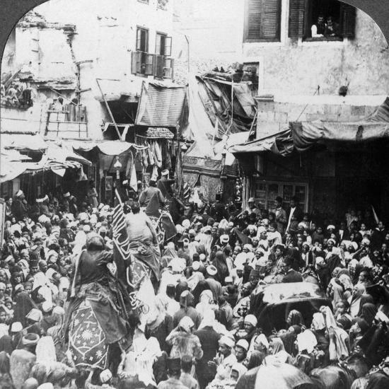 The Holy Carpet Parade with the Mahmal, Cairo, Egypt, 1905-Underwood & Underwood-Photographic Print