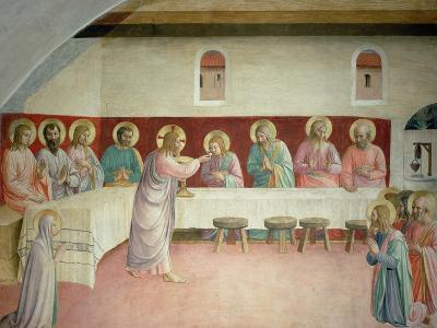 The Holy Communion and the Last Supper-Fra Angelico-Giclee Print