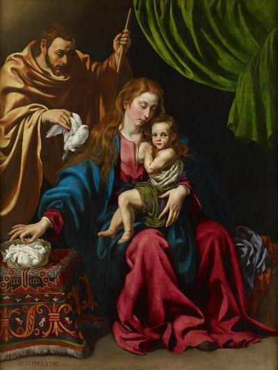 The Holy Family, 1613-Luis Tristan de Escamilla-Giclee Print
