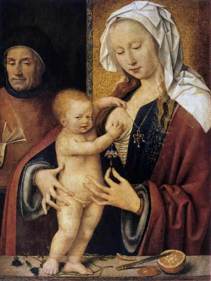 The Holy Family,' 16th Century-Joos Van Cleve-Giclee Print