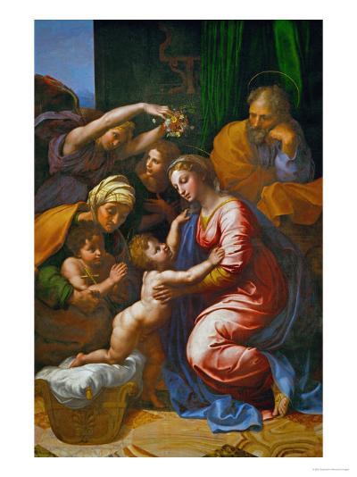 The Holy Family, Called La Grande Sainte Famille De Francois I, 1518-Raphael-Giclee Print
