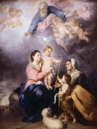 The Holy Family, Called the Virgin of Seville, 1670-Bartolome Esteban Murillo-Giclee Print