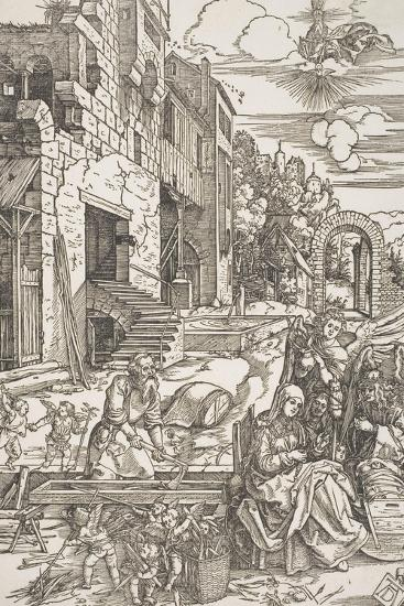"The Holy Family in Egypt, from the Series ""The Life of the Virgin"", C.1502, Printed 1580-Albrecht D?rer-Giclee Print"