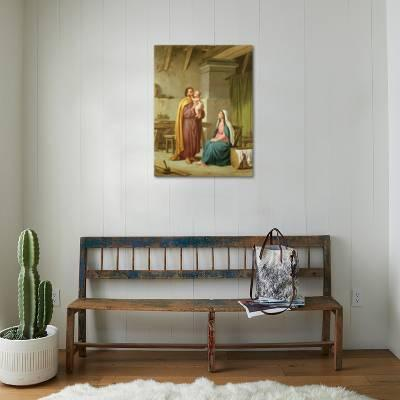The Holy Family in St Joseph\'s Workshop Giclee Print by Pietro ...
