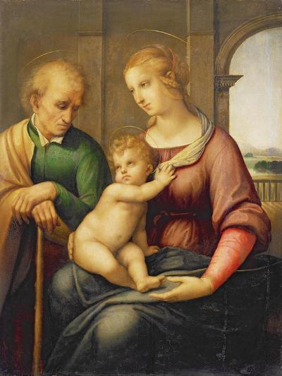 The Holy Family, or Madonna with the Beardless Joseph, C.1506-Raphael-Giclee Print