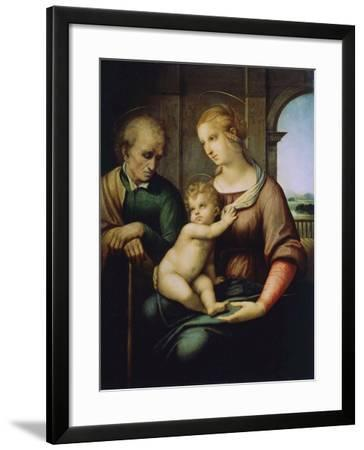 The Holy Family, or Madonna with the Beardless Joseph, C1506-Raphael-Framed Giclee Print