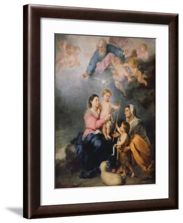 The Holy Family or the Virgin of Seville-Bartolome Esteban Murillo-Framed Giclee Print