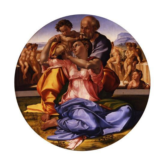 The Holy Family (The Doni Tond)-Michelangelo Buonarroti-Giclee Print