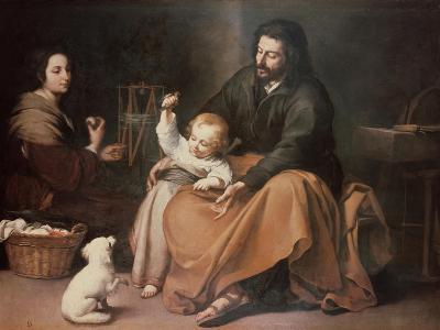 The Holy Family with a Bird-Bartolome Esteban Murillo-Giclee Print