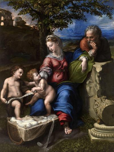 The Holy Family with an Oak Tree, 1518-1520-Raphael-Giclee Print