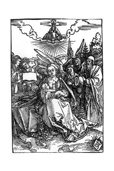The Holy Family with Five Angels, C.1504-Albrecht D?rer-Giclee Print