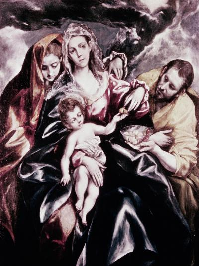The Holy Family with Mary Magdalene-El Greco-Giclee Print