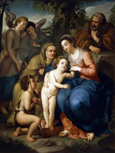 The Holy Family with Saint Elizabeth-Anton Raphael Mengs-Giclee Print