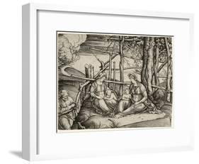 The Holy Family with St. Elizabeth and the Infant St. John, C. 1499-1501-Jacopo De' Barbari-Framed Giclee Print