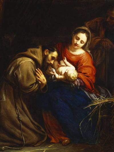The Holy Family with St. Francis-Jacob Van Oost-Giclee Print