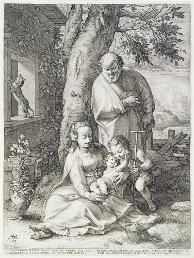 The Holy Family with St. John, 1593-Hendrik Goltzius-Giclee Print
