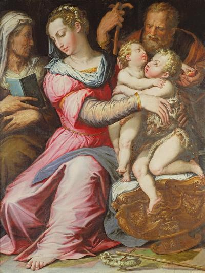 The Holy Family with the Infant St. John the Baptist--Giclee Print