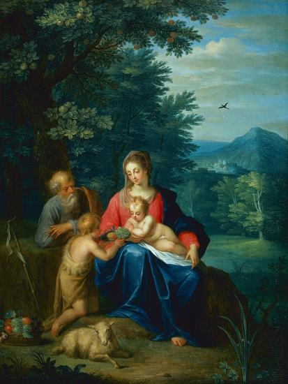 The Holy Family with the Infant St. John the Baptist-Pieter van Avont-Giclee Print