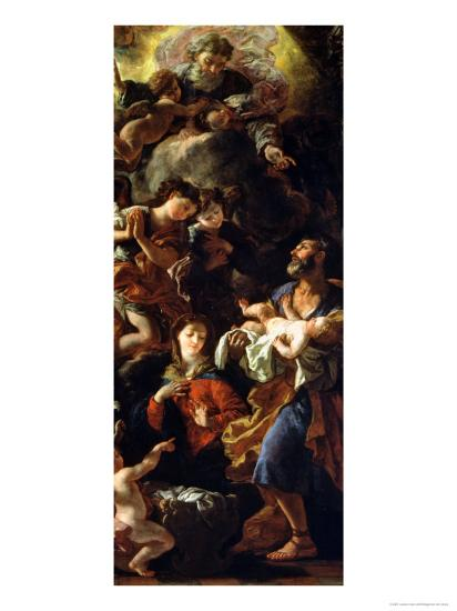 The Holy Family-Johann Karl Loth-Giclee Print