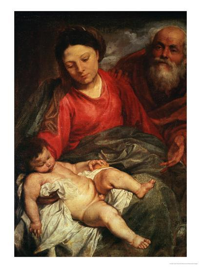The Holy Family-Sir Anthony Van Dyck-Giclee Print