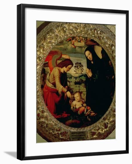 The Holy Family-Mariotto Albertinelli-Framed Giclee Print