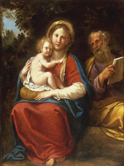 The Holy Family-Francesco Albani-Giclee Print
