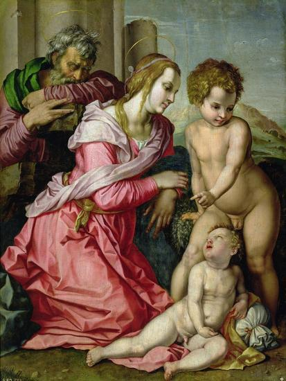 The Holy Family-Jacopo da Carucci Pontormo-Giclee Print