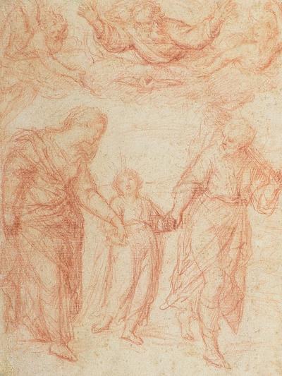 The Holy Family-Simone Cantarini-Giclee Print