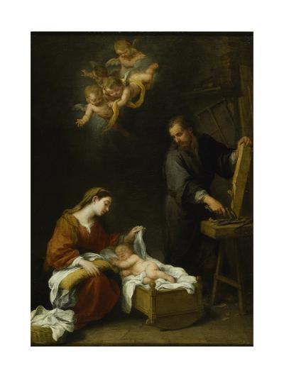 The Holy Family-Bartolome Esteban Murillo-Giclee Print