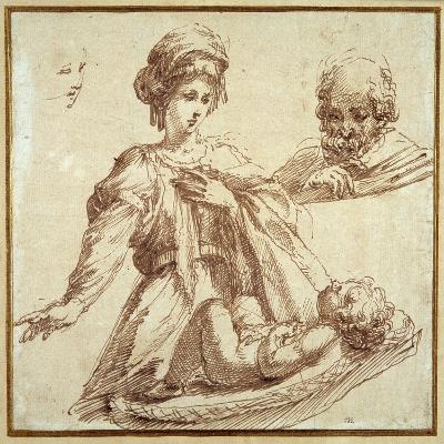 The Holy Family-Domenico Campagnola-Giclee Print