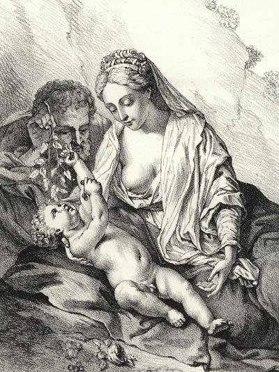 The Holy Family-Adriaan van der Werff-Giclee Print