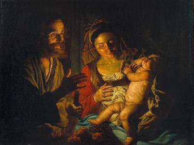 The Holy Family-Matthias Stomer-Giclee Print