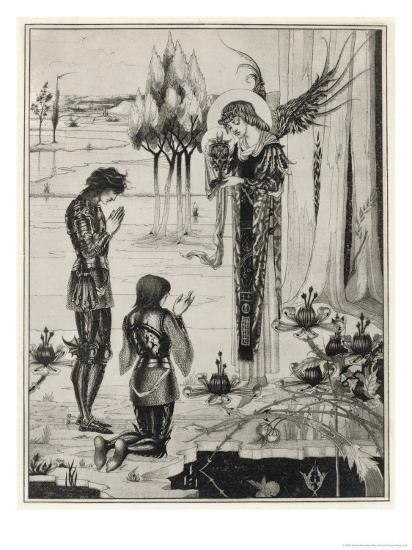 The Holy Grail is Achieved-Aubrey Beardsley-Giclee Print