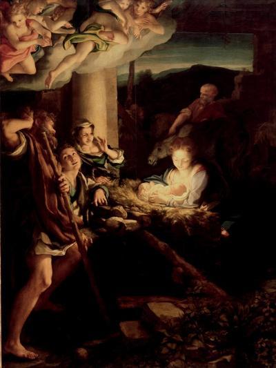 The Holy Night, 1527-1530-Correggio-Giclee Print